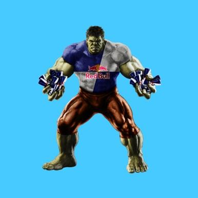 The third example Hulk becomes Hulk-Bull