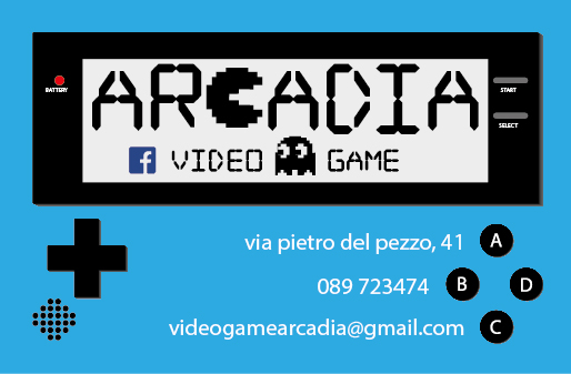 "Business Card ""Arcadio Videogames"""