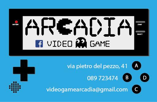 "Business Card ""Arcadio Videogames"""