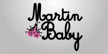 """Logo designed for """"Martin Baby"""" brand of children's clothing"""