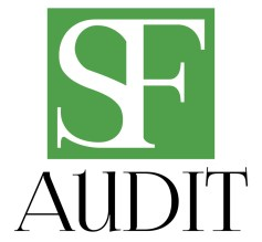 "logo designed for ""SF Audit"" associated accountants"