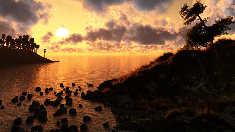 Un tramonto classico - 3D