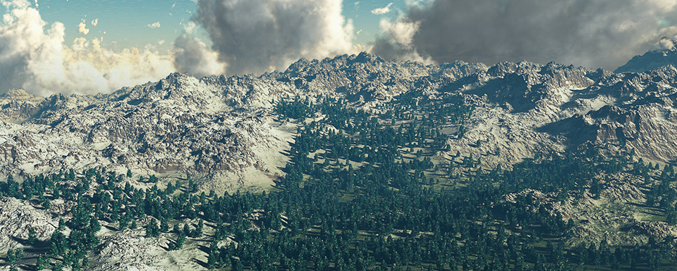 Una tempesta in arrivo sulle montagne - 3D