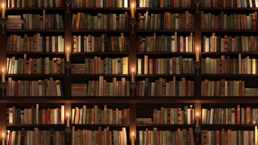 Fotografia di tantissimi libri molti dei quali sono traduzioni