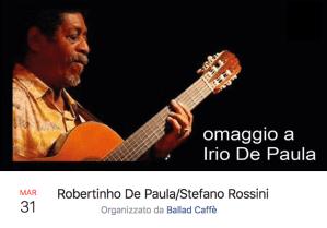31-03-2018 Robertinho De Paula:Stefano Rossini
