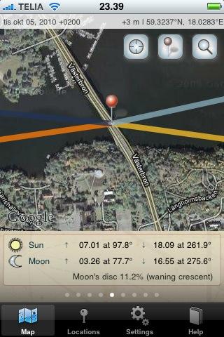 Ta reda på var solen står, och hur ljuset faller i din iPhone med en app.
