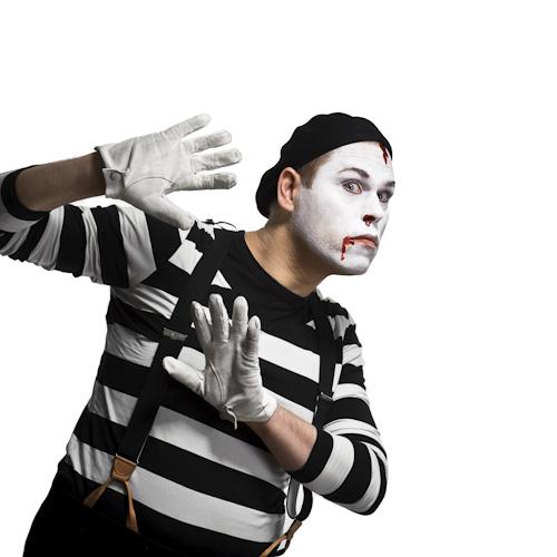 Lasse Nilsen, ståuppkomiker och mimare. Fotograf Stefan Tell