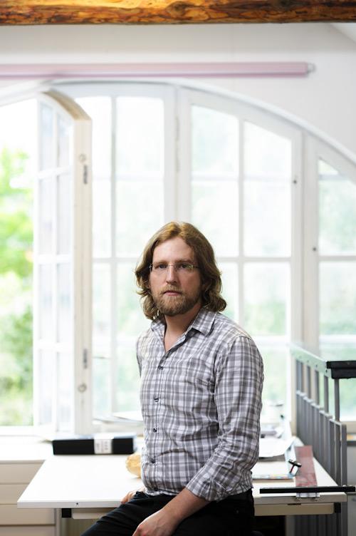 Oskar Jonsson, pressbild av illustratör. Fotograf Stefan Tell