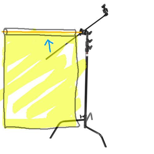 C-stand-som-hallare-av-bakgrundspapper-arm-grip-head-fotostudio-enkelt