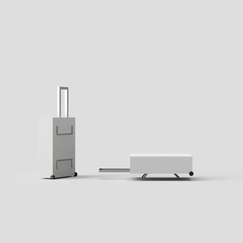 stödben till fotoväska rullväska utrustning fotograf 3D-koncept ide produktutveckling. Fotograf Stefan Tell