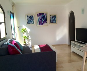 Abstract Triptych Painting - Private apartment, Marbella