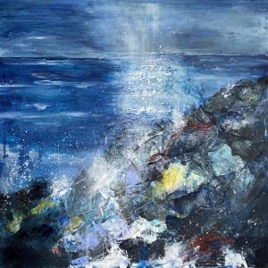 Moonlight Memories - original available Mixed Media on board 50 x 50 cms £495 plus shipping
