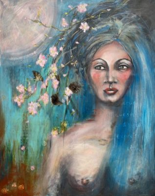 Original Available 'I AM ... a miracle' Mixed Media on canvas 100 x 150 cms