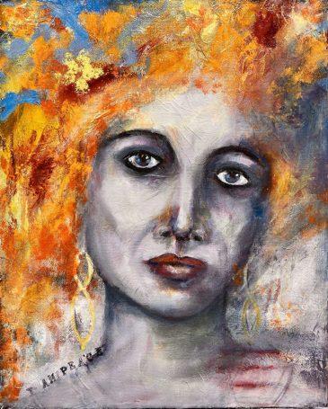 Original Available 'I AM... Peace' Mixed Media on canvas 40 x 50 cms