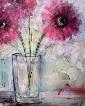 The Sound of Falling Petals Mixed Media on canvas 40 x 50 cms £295 plus shipping