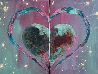 Twin Hearts Diptych