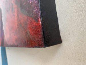 Canvas edge 4 cms painted black