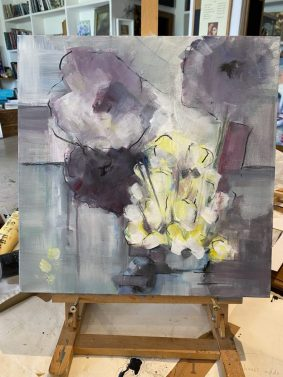 Still Life demo painting from workshop with Steffi Goddard