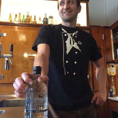 Andi Santner, Küchenchef vom Lösshof mit Steinhorn Gin