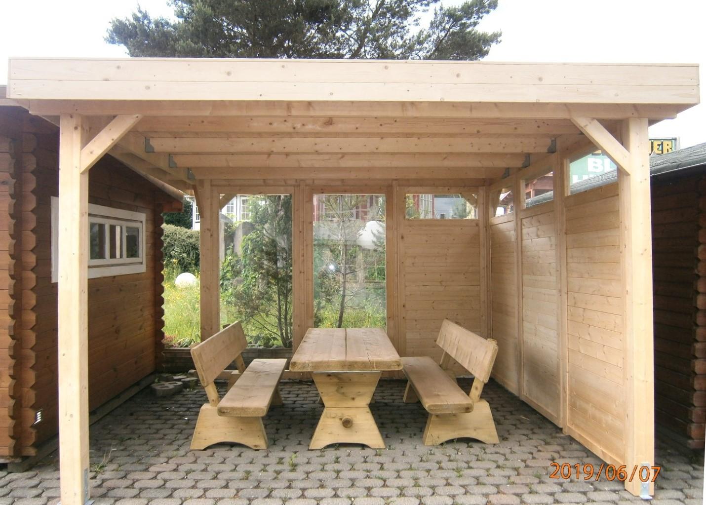 Gartenlaube Grilllaube Und Pavillon Aus Holz Offen Gazebo