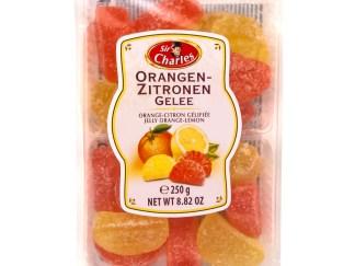Gezuckertes Gelee mit Zitronen- und Orangengeschmack 250g