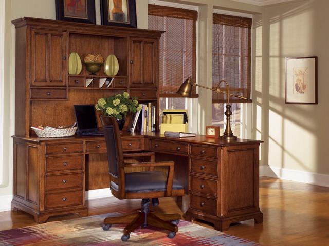 Set executiv de birou din stejar - mobila barbatilor