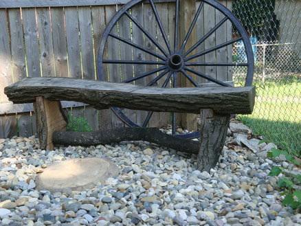 Banca din stejar - decor functional
