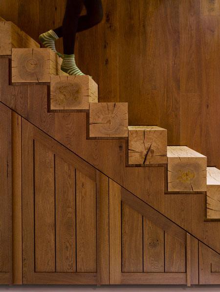 Trepte din grinda de brad - scari interioare de lemn