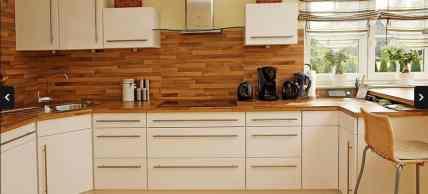mobila de bucatarie - decor cu lemn
