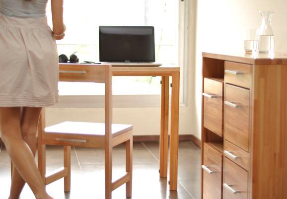 Mobilier modular - Servanta cu 4 sertare, masuta si scaun