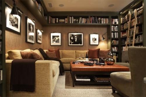 camera eleganta cu mobila din lemn masiv
