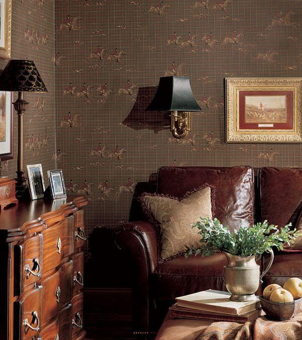 design interior cu tapet - design francez