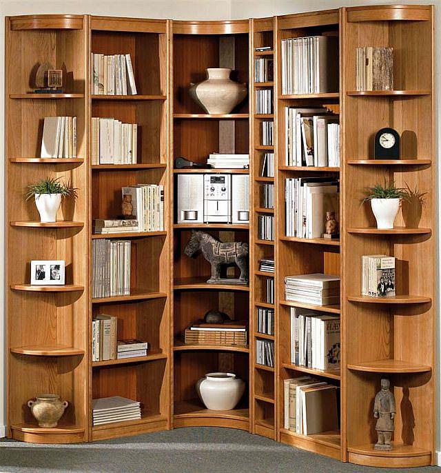 biblioteca de colt - mobila de colt