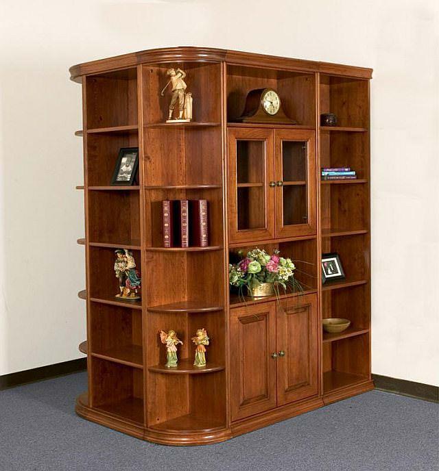 biblioteca cu 4 laterale - mobila de colt
