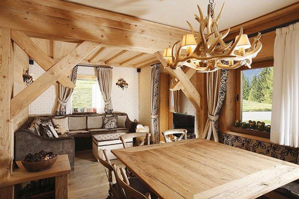 amenajare cu lemn masiv