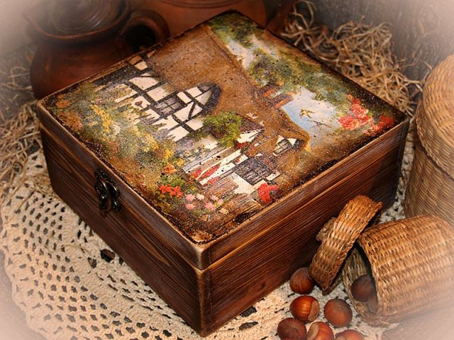 pictura decoupage
