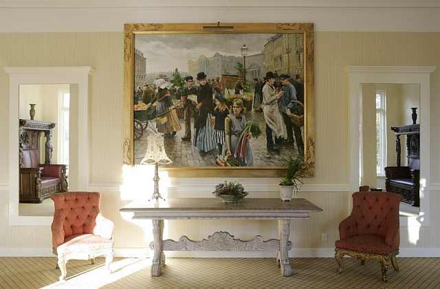 salon cu pictură