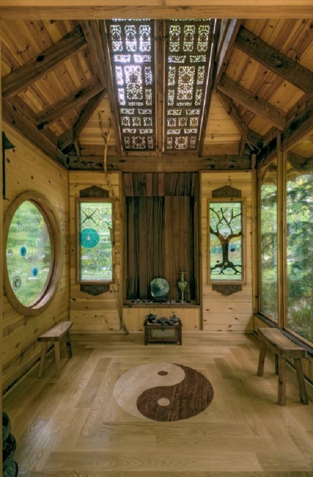 camera de meditat din stejar masiv camera de meditatii