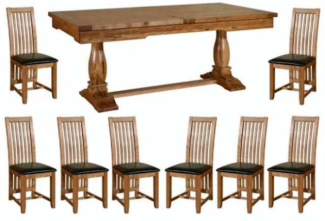 masa de living cu scaunele din lemn masiv