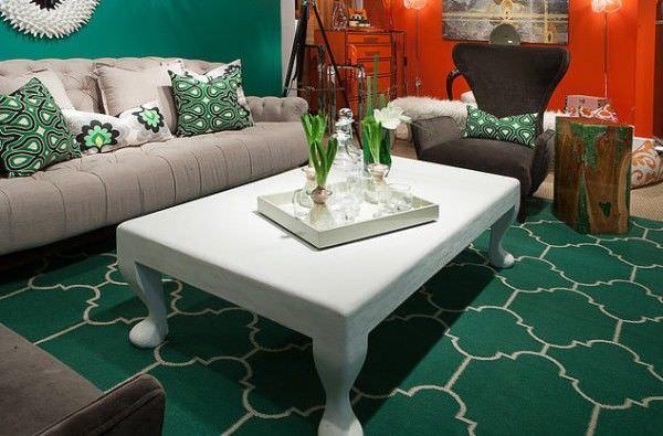 Living room verde smarald