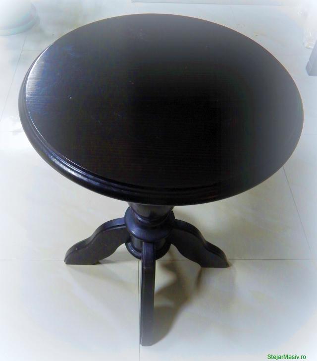 masa rotunda din brad