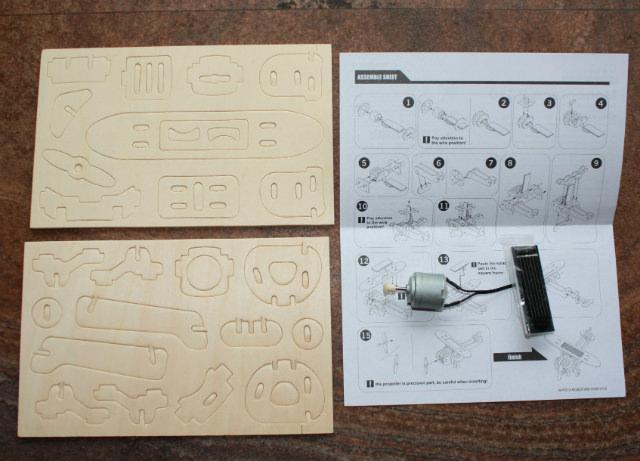 jucării din placaj de lemn - avion solar