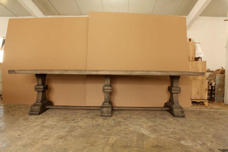 mobila din lemn masiv masa din stejar masiv