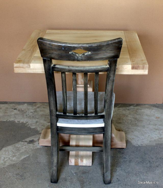 masa si scaun din stejar
