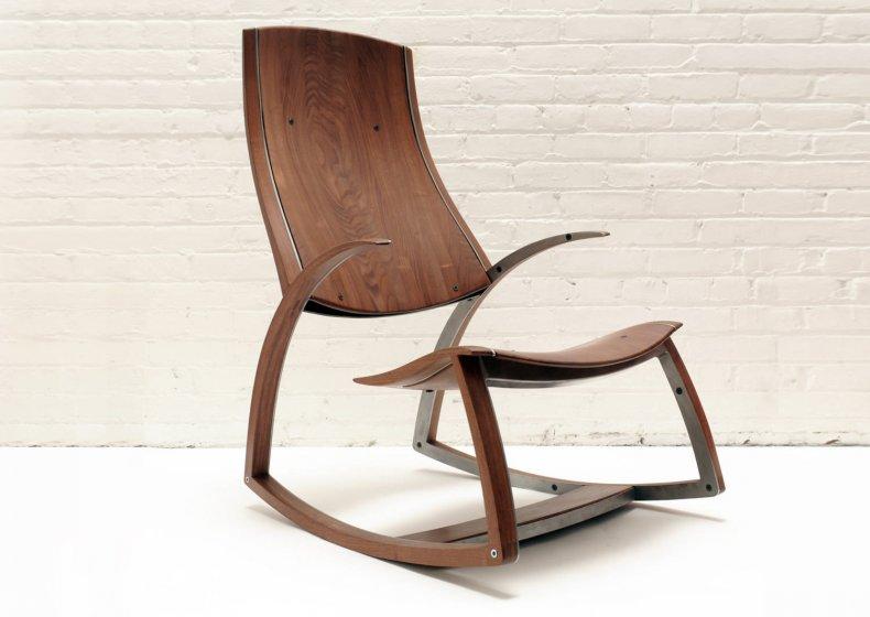 mobila din lemn si fier - balansoar