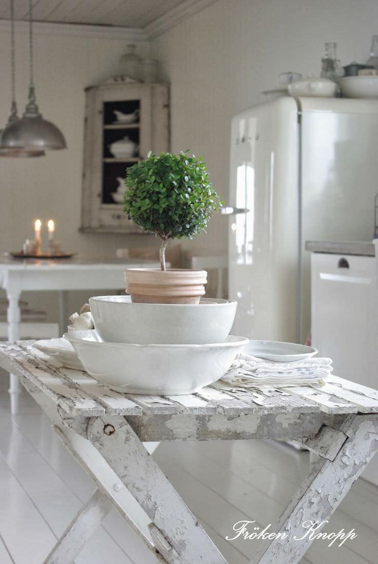 Design suedez autentic - alb vintage (2) - Fröken Knopp