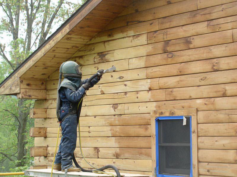 curatarea prin Sablarea lemnului