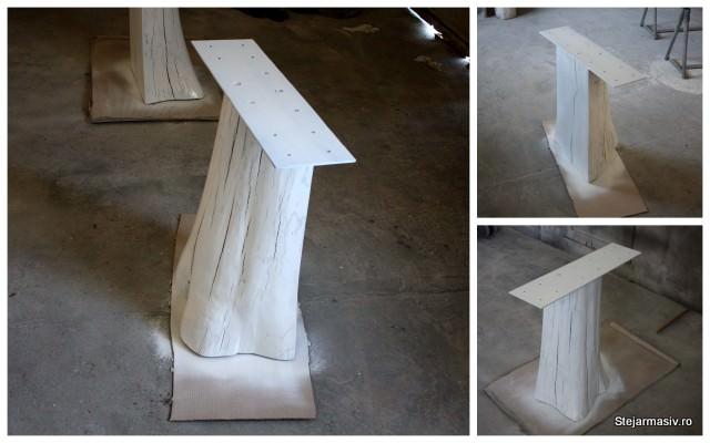 mobila din lemn masiv - picioare din bustean