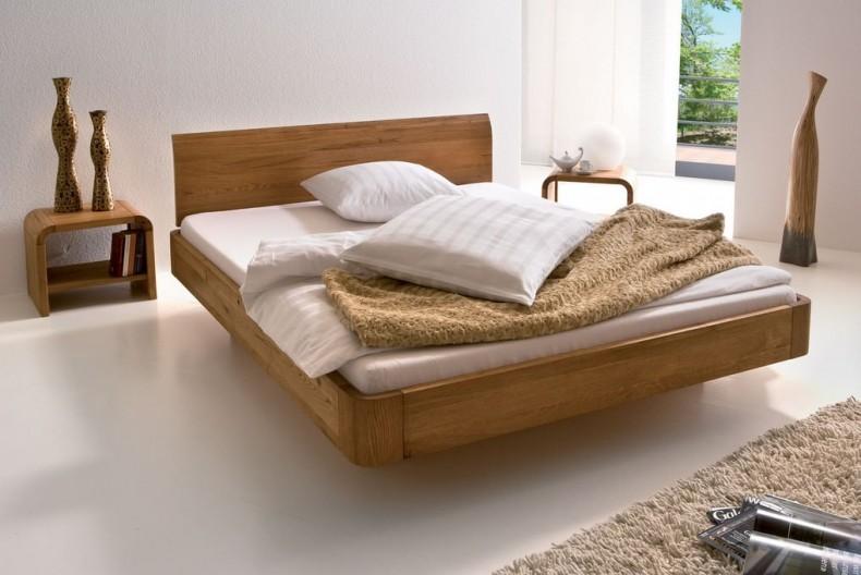 set dormitor - - pat din stejar