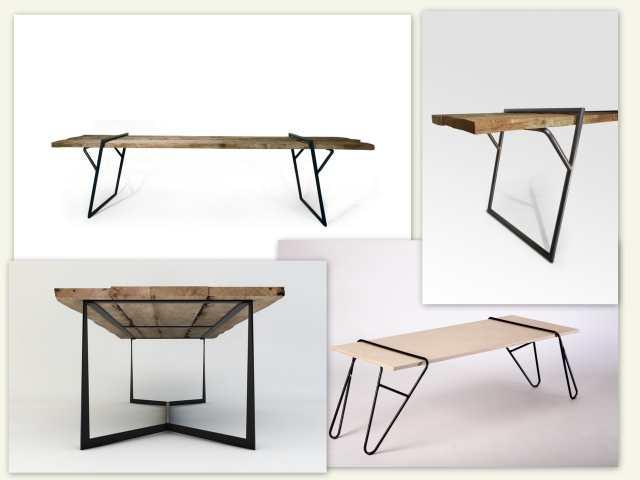Mese cu design special cu blaturi de lemn